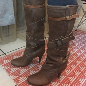 Auth Chloe brown boots 👢
